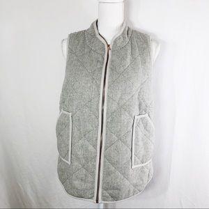 41 Hawthorn Gray Herringbone Vest Size L  …